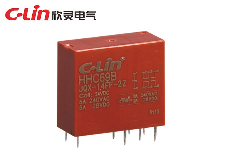 HHC69B-2Z (JQX-14FF-2Z)小型电磁继电器