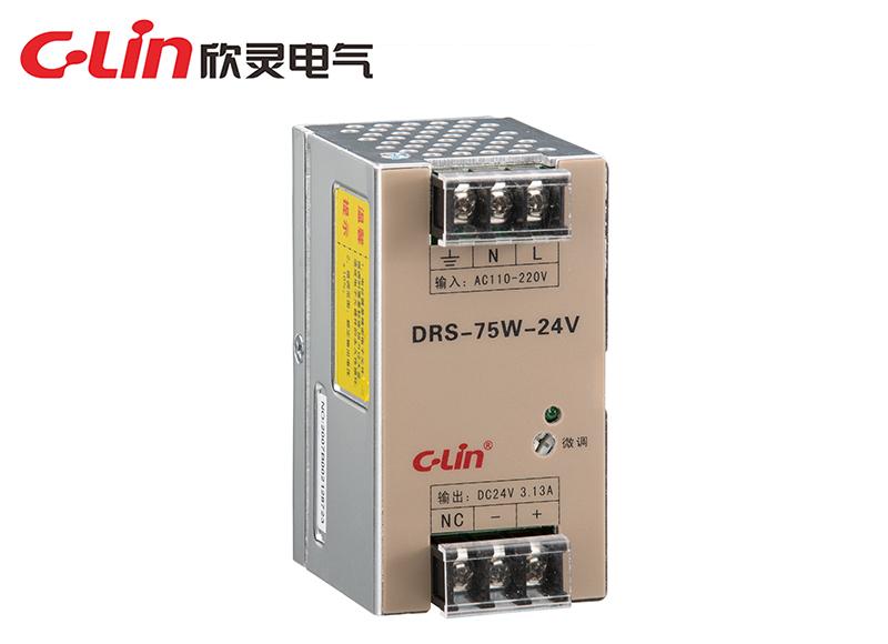 DRS-15W/25W/35W/50W/75W 指示灯导轨式开关电源