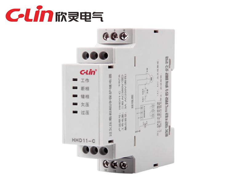 HHD11-C 过欠压断相相序保护继电器
