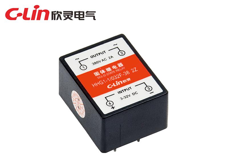 HHG1-1/032F-22、38 (SSR-DA)小型双列电路板式固体继电器(直流控制交流)