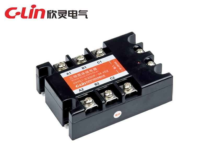 HHG1-3/250F~38(SSR-AA)三相固体继电器(交流控制交流)
