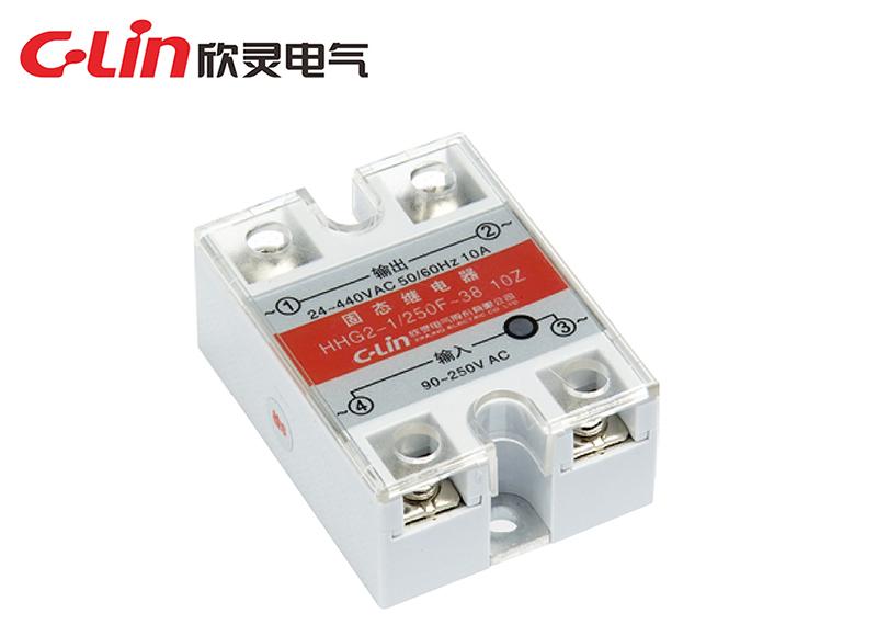 HHG2-1/250F~22、38(SSR-AA)单相固体继电器(交流控制交流)