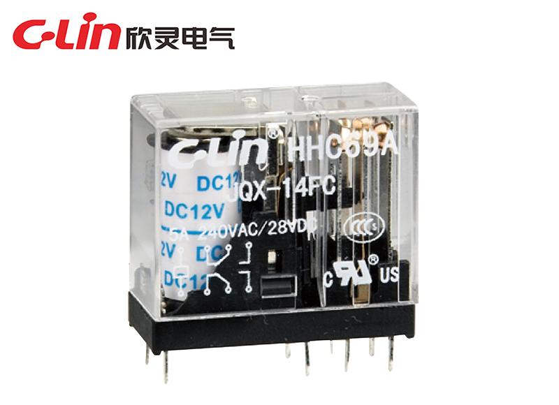 HHC69A-2Z(JQX-14FC-2Z)小型电磁继电器