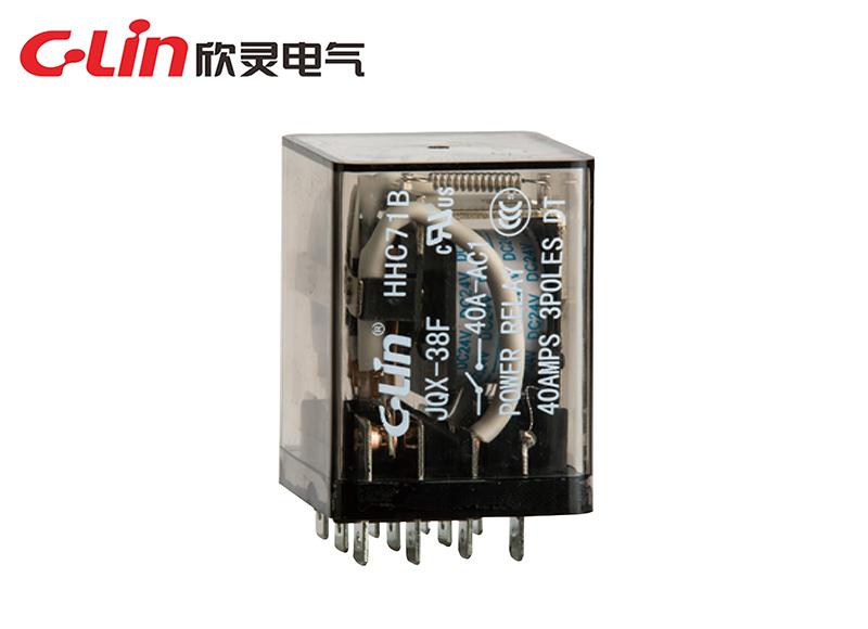 HHC71B(JQX-38F)密封型大功率电磁继电器
