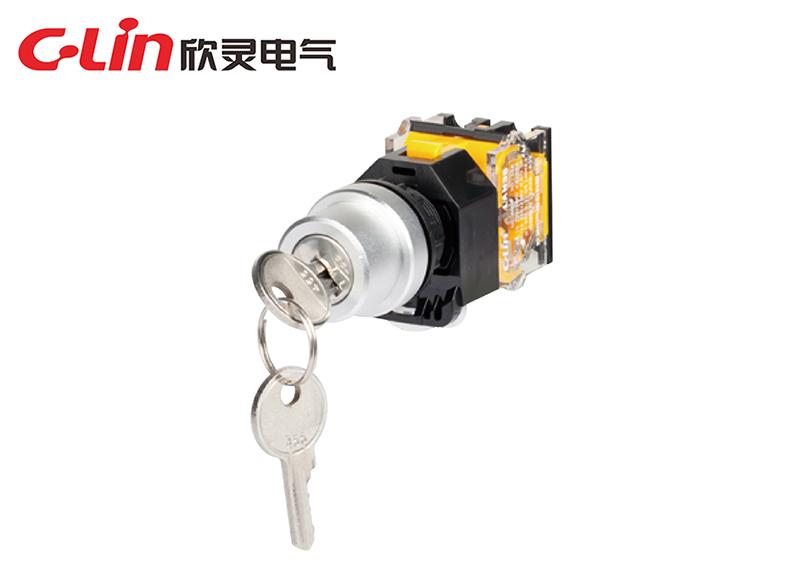 LAN38-22D-11Y二位置钥匙钮