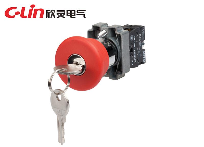LANB2-BS142带钥匙转动复位紧急钮