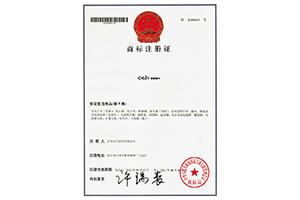 欣灵电气商标注册证
